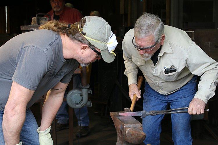 Professor Don McIntosh instructing a student.